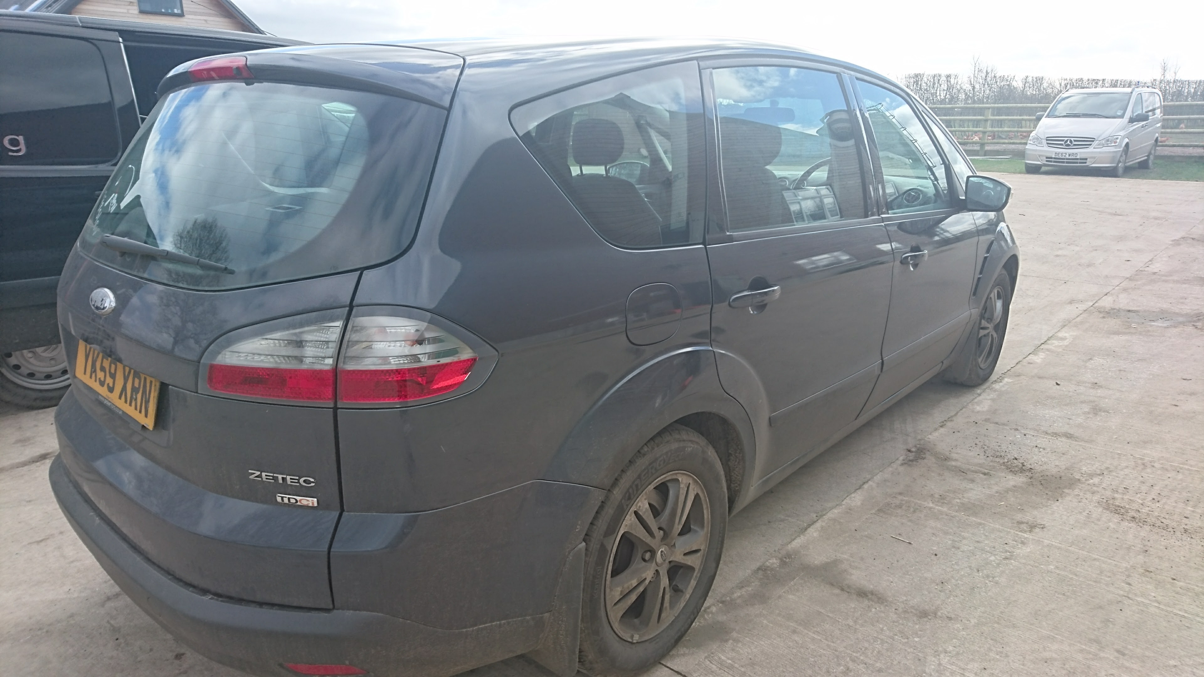 Before picture of Ford S Max from rear side